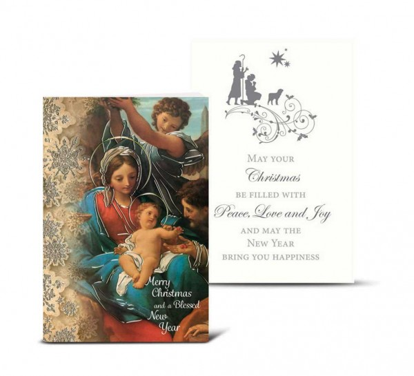 Holy Family Snowflake Christmas Card Set - Full Color