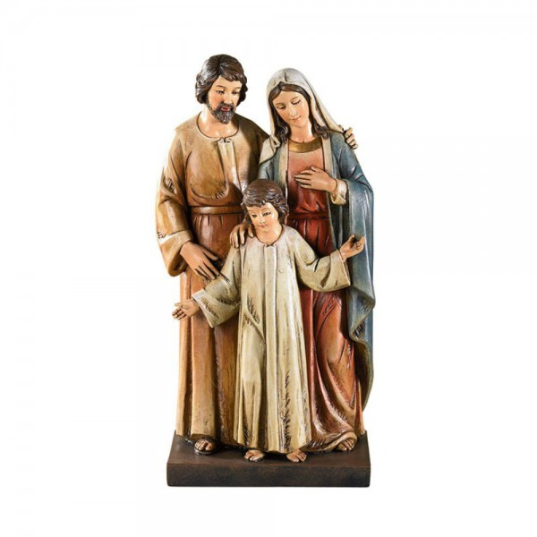 Holy Family with Young Child Jesus 8 Inch High Statue - Full Color