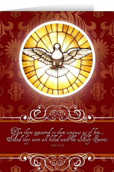 Holy Spirit Confirmation Greeting Card - Red
