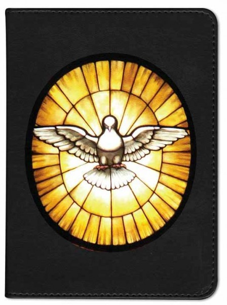 Holy Spirit with Stained Glass Catholic Bible - Black