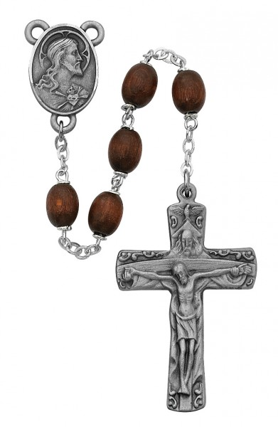 Holy Trinity Brown Bead Rosary - Brown