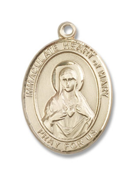 Immaculate Heart of Mary Medal - 14K Yellow Gold
