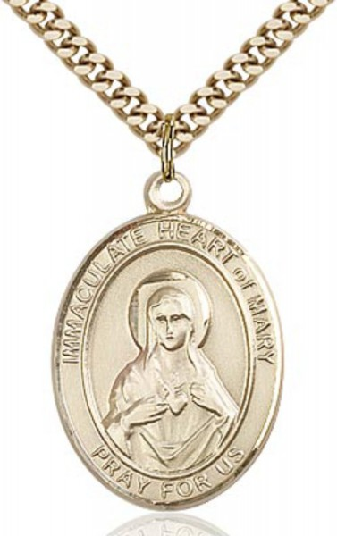 Immaculate Heart of Mary Medal - 14KT Gold Filled