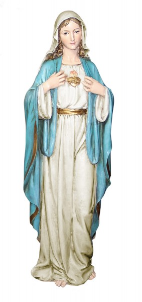 "Immaculate Heart of Mary Statue 37"" - Multi-Color"