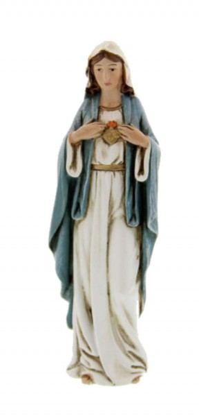 "Immaculate Heart of Mary Statue 4"" - Blue"