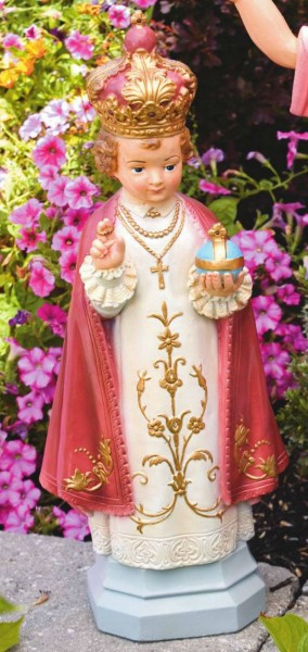 Infant of Prague Statue 25 Inches - Detailed Color Finish