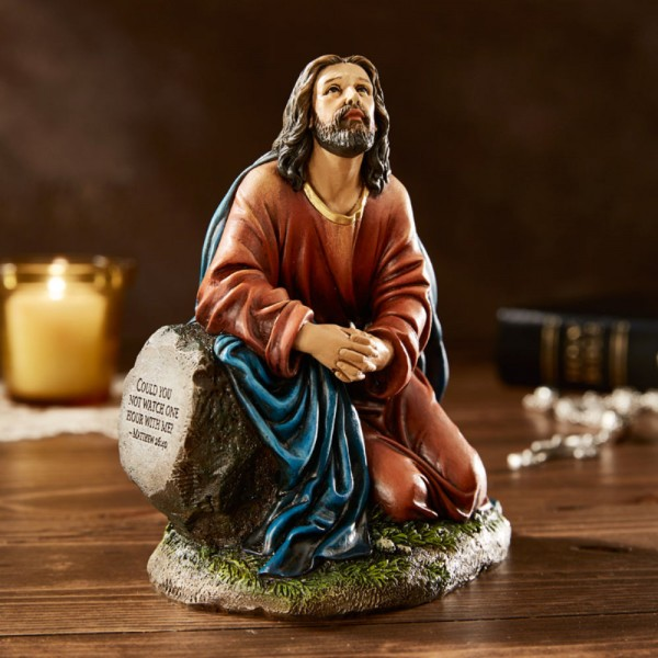 Jesus' Agony in the Garden of Gethsemane 5.5 Inches High Statue - Full Color
