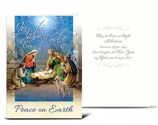 Joy to the World Christmas Card Set - Full Color