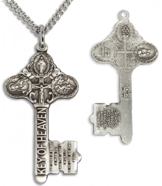 Key to Heaven Pendant with Chain - Silver