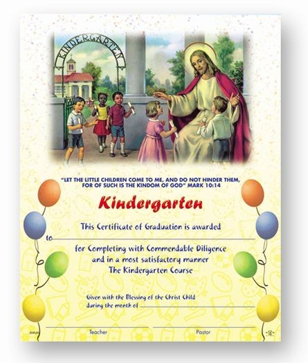 Kindergarten Graduation Certificates - 50 per box - Full Color