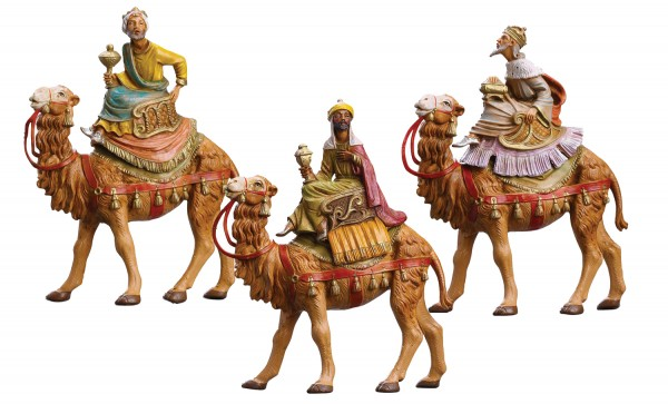 Kings on Camels Figures for 5 inch Nativity Set - Multi-Color