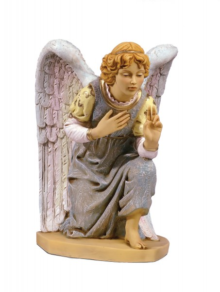 Kneeling Angel Figure for 27 inch Nativity Set - Multi-Color