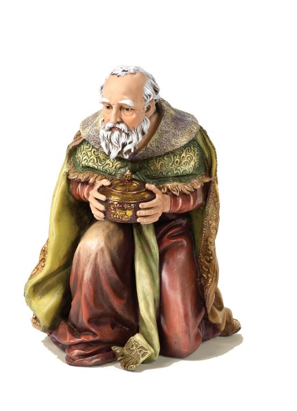 "Kneeling Wise Man Statue 17"" H for Color 27"" Scale Nativity Set - Multi-Color"