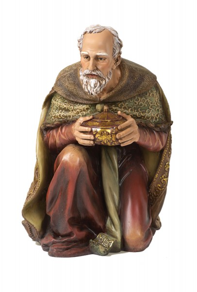 "Kneeling Wise Man Statue - 24"" H - Multi-Color"
