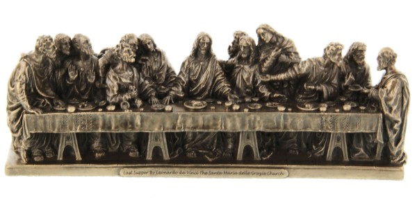 Last Supper Statue in Bronzed Resin - 9.5 inches - Bronze