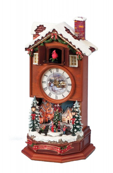 Lighted cuckoo clock with winter scene from catholic faith store 15 multi color - Colorful cuckoo clock ...