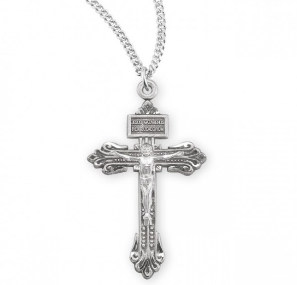 Lily Tip Pardon Crucifix Necklace - Sterling Silver