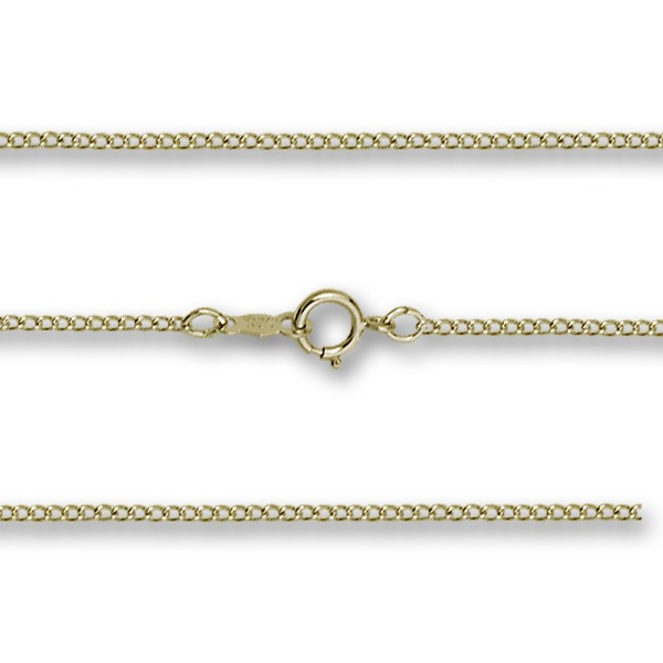 Lite Curb Chain Sterling Silver, Gold Filled, 14K Options - Gold Filled