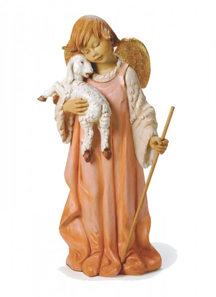 Little Shephard Angel Figure for 50 inch Nativity Set - Multi-Color