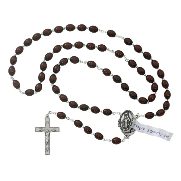 Locket Rosary in Brown - Brown