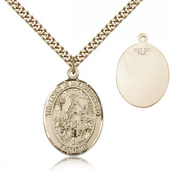 Lord Is My Shepherd Medal - 14KT Gold Filled