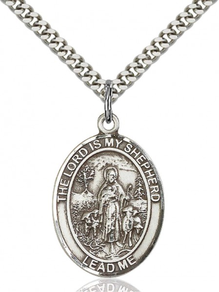Lord Is My Shepherd Medal - Pewter