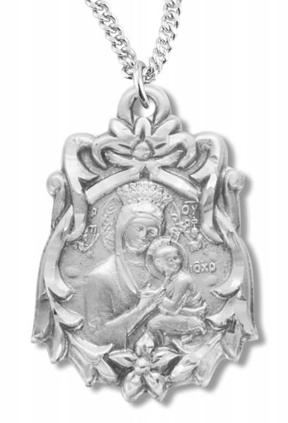 Madonna and Child Medal Sterling Silver - Silver