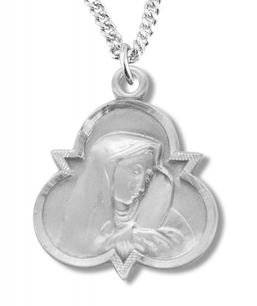 Madonna and Child Medal Sterling Silver - Sterling Silver