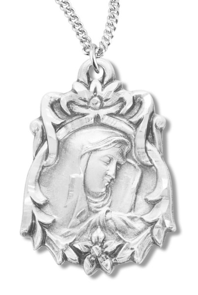 Our Lady of Sorrows Medal Sterling Silver - Silver