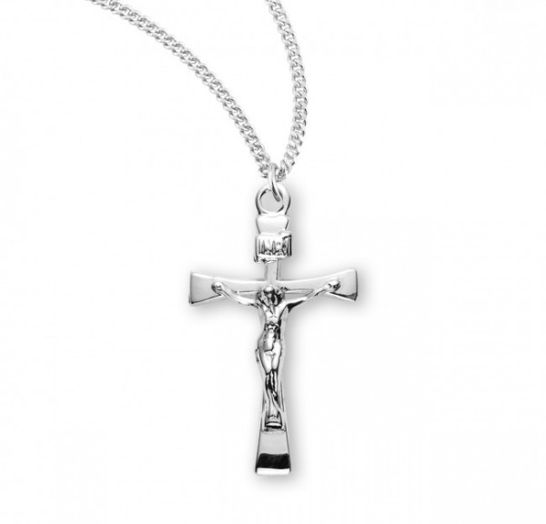 Maltese Crucifix Necklace with High Polish Finish - Sterling Silver