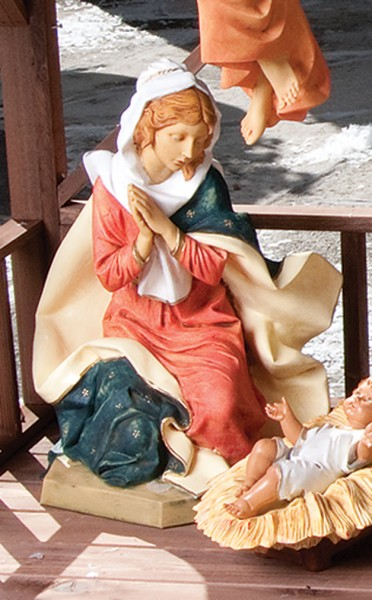 Mary Figure for 27 inch Nativity Set - Multi-Color