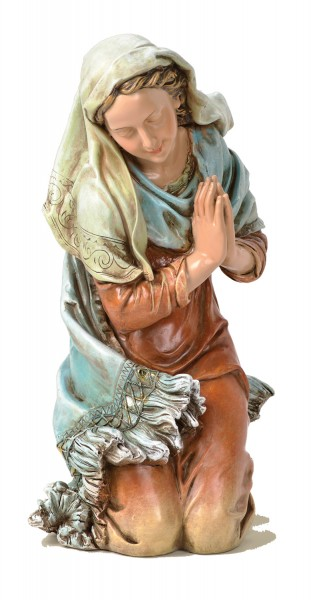 "Mary Figurine for Holy Family Nativity 27"" Scale - Multi-Color"