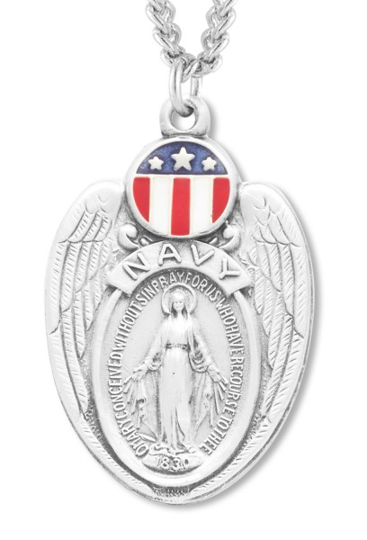 Mary Navy Medal Sterling Silver - Silver
