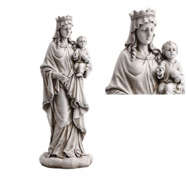 "Mary Queen Heaven Garden Statue 18"" High - Stone Finish"