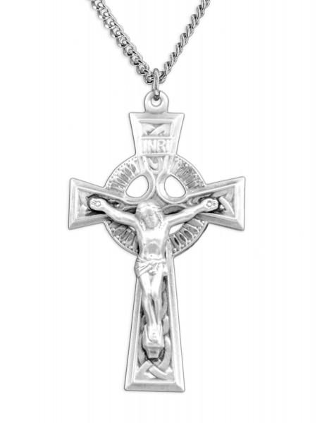 Mens celtic cut out crucifix pendant mens celtic cut out crucifix pendant sterling silver aloadofball Choice Image