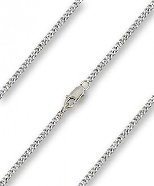 Men's Heavy Curb Chain with Clasp - Sterling Silver