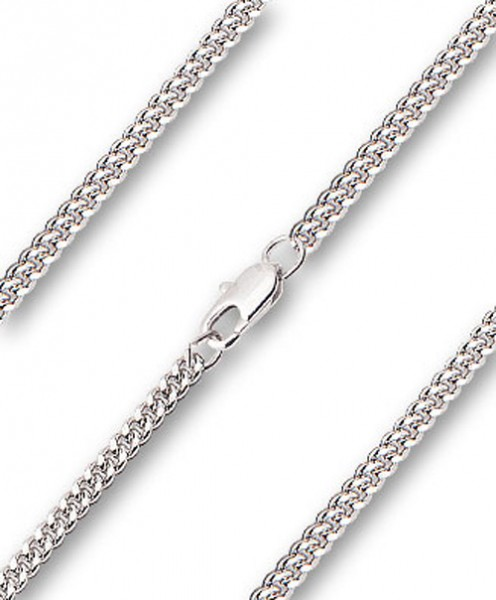 Men's Heavy Curb Chain with Clasp - Rhodium Plated