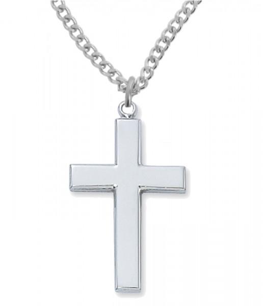 d64d53fe576 Men's Plain High Polish Sterling Silver Cross Pendant - Silver