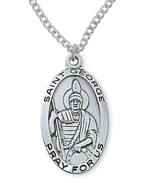 Men's St. George Medal Sterling Silver - Silver