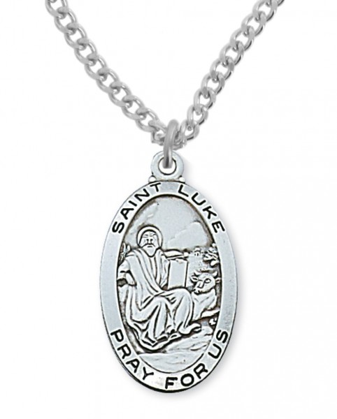 Men's St. Luke Medal Sterling Silver - Silver