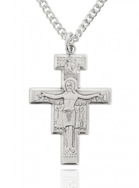 Men's Sterling Silver San Damiano Crucifix - Sterling Silver