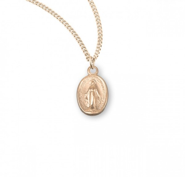 Miraculous Baby Medal - Sterling Silver - Gold Plated