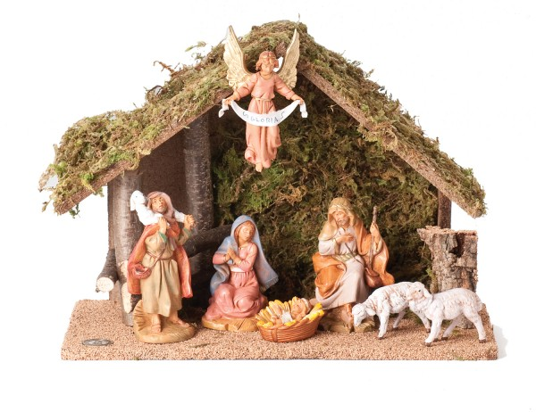 Nativity set with italian stable 10 quot h from catholic faith store 10