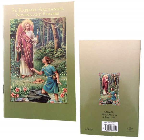 Novena to Saint Raphael Prayer Pamphlet - 10 Per Pack - Green | Gold