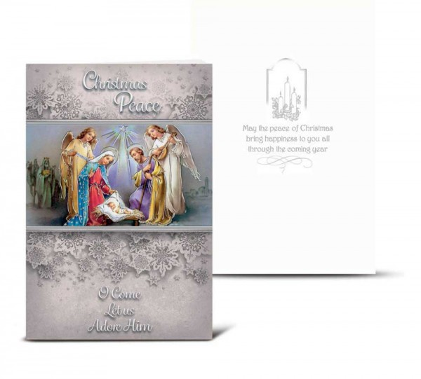 O Come Let Us Adore Him Christmas Card Set - Full Color