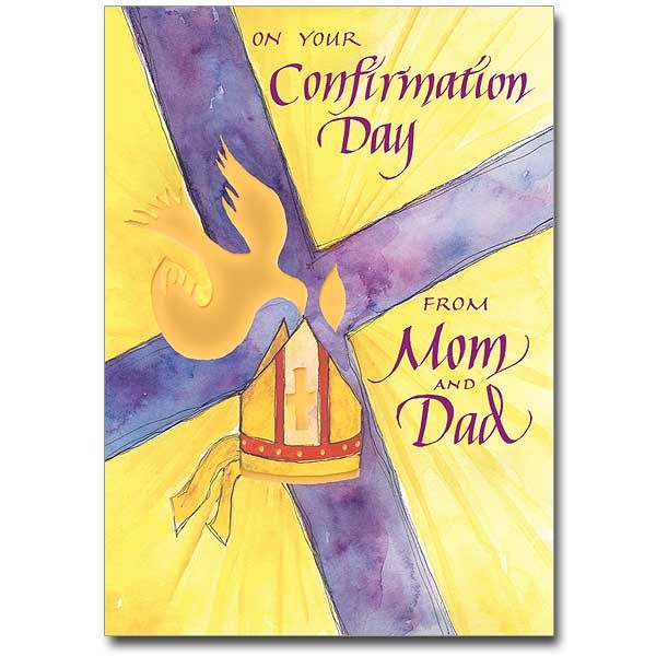 On Your Confirmation Day from Mom and Dad Greeting Card - Multi-Color