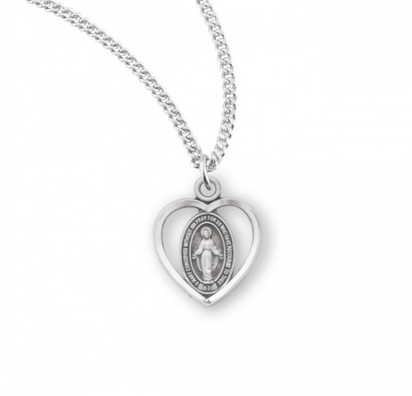 Open Heart Miraculous Pendant 4 Styles - Sterling Silver