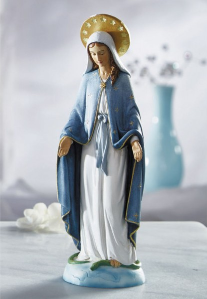 Our Lady of Grace 8 Inches High Statue - Full Color