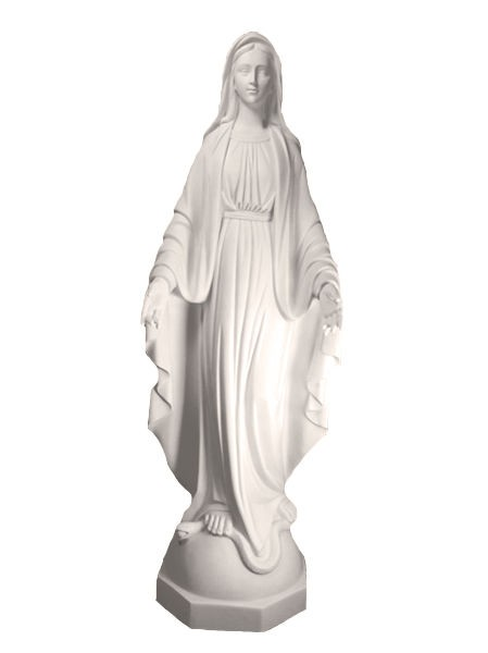 Our Lady of Grace Statue White Marble Composite 45 Inch - White