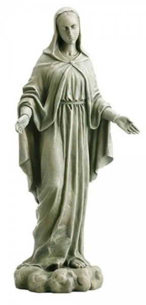 "Our Lady Of Grace Garden Statue 24"" High - Stone Finish"